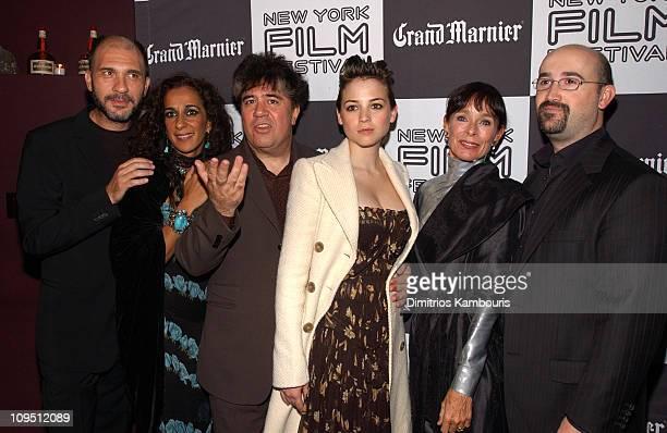 Dario Grandinetti, Rosario Flores, writer/director Pedro Almodovar, Leonor Watling, Geraldine Chaplin and Javier Camara