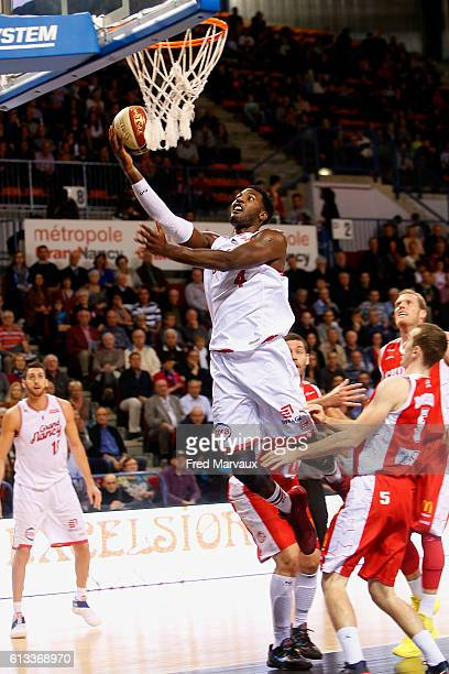 Dario Hunt of Sluc Nancy basket during the Basketball Pro A match between Nancy and Cholet on October 8 2016 in Nancy France