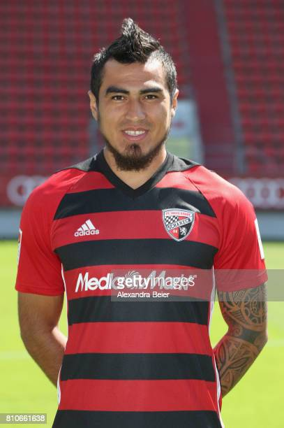 Dario Lezcano of FC Ingolstadt poses during the team presentation at Audi Sportpark stadium on July 8 2017 in Ingolstadt Germany