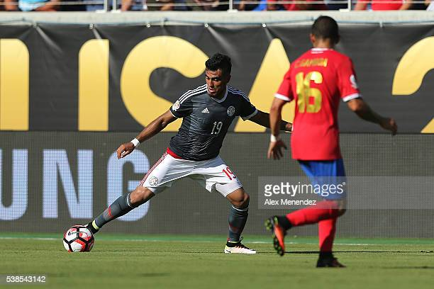 Dario Lezcano of Paraguay stops the ball during the 2016 Copa America Centenario Group A match between Costa Rica and Paraguay at Camping World...