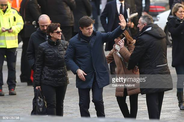 Dario Nardella mayor of Florence ahead of a funeral service for Davide Astori on March 8 2018 in Florence Italy The Fiorentina captain and Italy...
