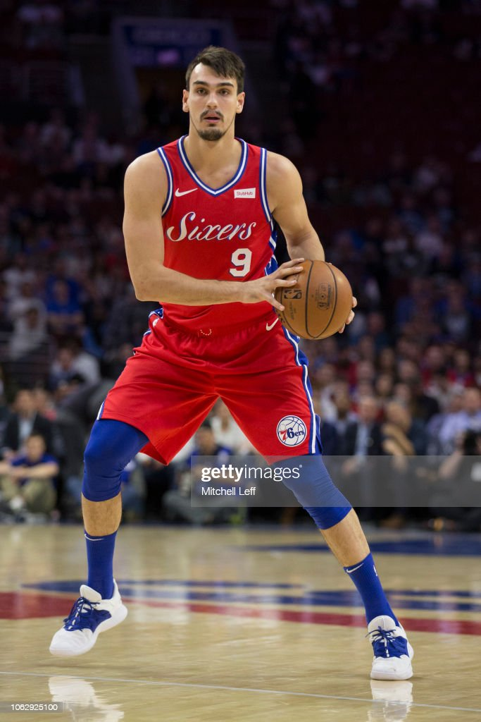 big sale 4b19f d30dc Dario Saric of the Philadelphia 76ers controls the ball ...