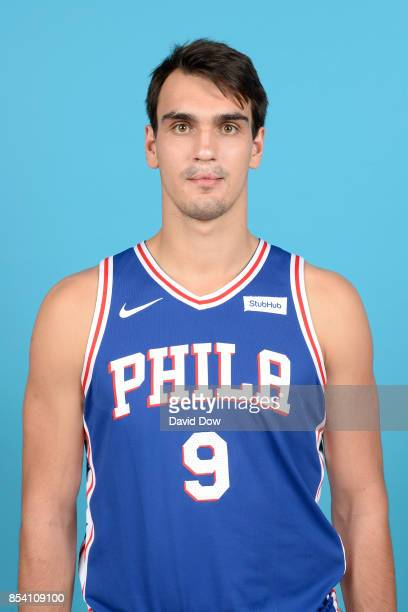 Dario Saric of the Philadelphia 76ers poses for a head shot during media day at Wells Fargo Center in Philadelphia Pennsylvania on September 25 2017...