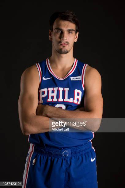 Dario Saric of the Philadelphia 76ers poses for a portrait during Media Day at the Sixers Training Complex on September 21 2018 in Camden New Jersey...