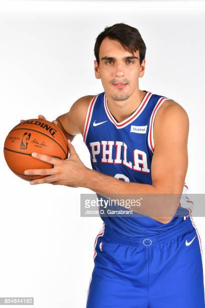 Dario Saric of the Philadelphia 76ers poses for a portrait during 201718 NBA Media Day on September 25 2017 at Wells Fargo Center in Philadelphia...