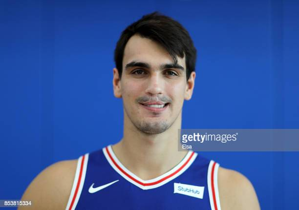 Dario Saric of the Philadelphia 76ers poses for a portrait during the Philadelphia 76ers Media Day on September 25 2017 at the Philadelphia 76ers...