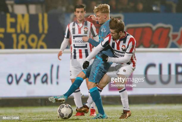 Dario van den Buijs of Heracles Almelo Daniel Crowley of Willem II during the Dutch Eredivisie match between Willem II v Heracles Almelo at the...
