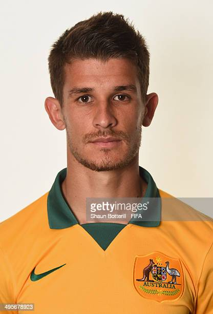 Dario Vidosic of Australia poses during the official FIFA World Cup 2014 portrait session on June 4 2014 in Vitoria Brazil