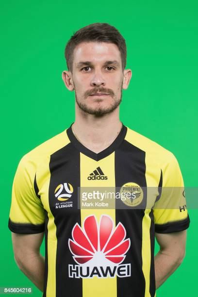 Dario Vidosic poses during the Wellington Phoenix 2017/18 ALeague headshots session at Fox Sports Studios on September 11 2017 in Sydney Australia
