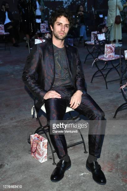 Dario Yazbek Bernal is seen arriving at the Etro fashion show during the Milan Women's Fashion Week on September 24, 2020 in Milan, Italy.