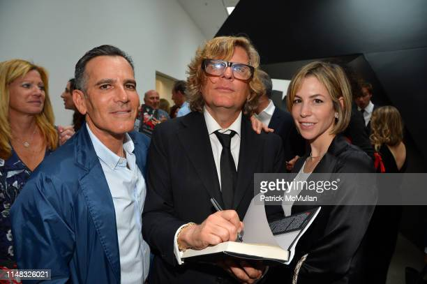 Darius Bikoff, Richard Kirshenbaum and Jill Bikoff attend Richard Kirshenbaum's Book Party, ROUGE! at Pace Gallery on June 5, 2019 in New York City.