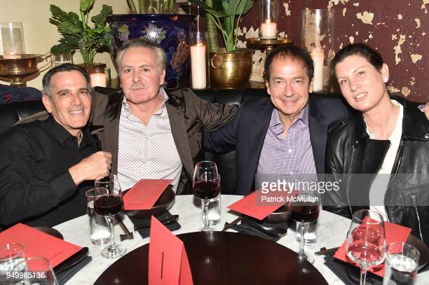 Darius Bikoff Shahad Karmeli John Paulson and guest attend Billy Macklowe's 50th Birthday Spectacular at Chinese Tuxedo on April 21 2018 in New York...