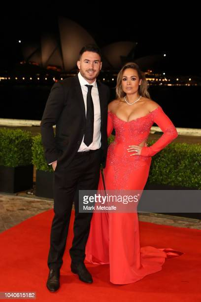 Darius Boyd and Kayla Boyd arrive at the 2018 Dally M Awards at Overseas Passenger Terminal on September 26 2018 in Sydney Australia