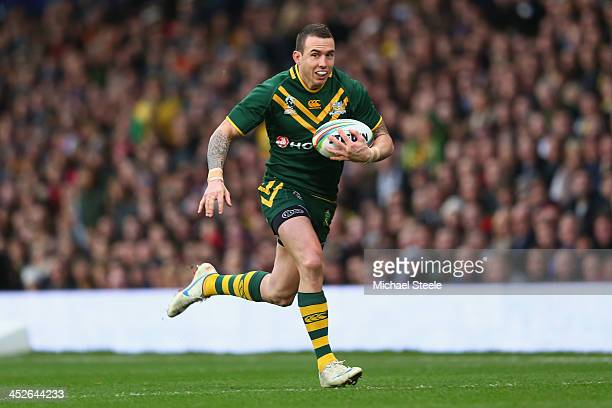 Darius Boyd of Australia during the Rugby League World Cup Final between Australia and New Zealand at Old Trafford on November 30 2013 in Manchester...