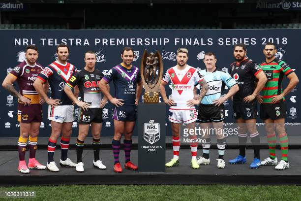 Darius Boyd of the Brisbane Broncos Boyd Cordner of the Sydney Roosters James Maloney of the Penrith Panthers Cameron Smith of the Melbourne Storm...