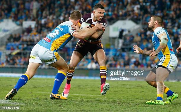 Darius Boyd of the Broncos in action during the round 22 NRL match between the Gold Coast Titans and the Brisbane Broncos at Cbus Super Stadium on...