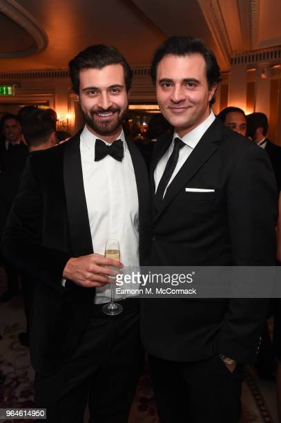 Darius Campbell and guest attend the Tempus Earth Conservation Gala in aid of the WWF at The Dorchester on May 31 2018 in London EnglandThe event is...