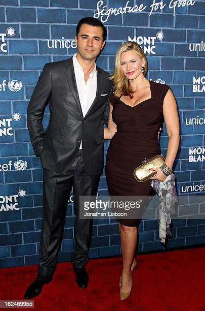 Darius Campbell and Natasha Henstridge attend a PreOscar charity brunch hosted by Montblanc and UNICEF to celebrate the launch of their new...