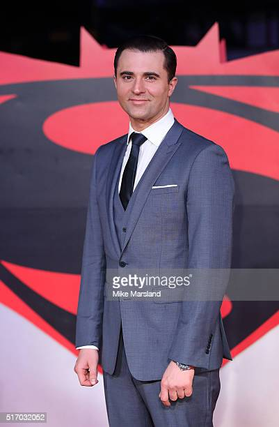 Darius Campbell arrives for the European Premiere of 'Batman V Superman Dawn Of Justice' at Odeon Leicester Square on March 22 2016 in London England