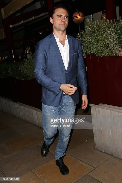 Darius Campbell at Lou Lou's on September 14 2016 in London England