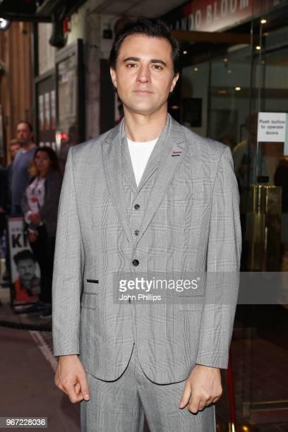 Darius Campbell attends the opening night of 'Killer Joe' at Trafalgar Studios on June 4 2018 in London England
