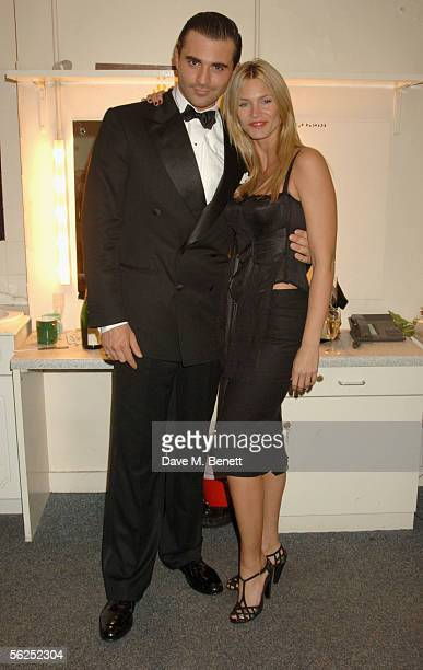 Darius Danesh and actress Natasha Henstridge attend the backstage party following Darius Danesh's first night playing the role of lawyer Billy Flynn...