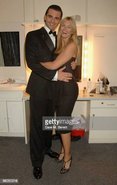 Darius Danesh and Natasha Henstridge attend the backstage party following Darius Danesh's first night playing the role of lawyer Billy Flynn in...