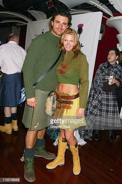 Darius Danesh and Natasha Henstridge during Dressed to Kilt A Scottish Evening of Fashion and Fun Arrivals and Backstage at Copacabana in New York...