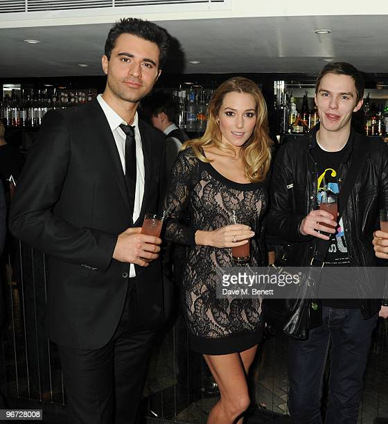 Darius Danesh Jacqui Ainsley and Nicholas Hault attend the launch of 'Heavy Rain' for PlayStation 3 at The Electric Cinema on February 15 2010 in...