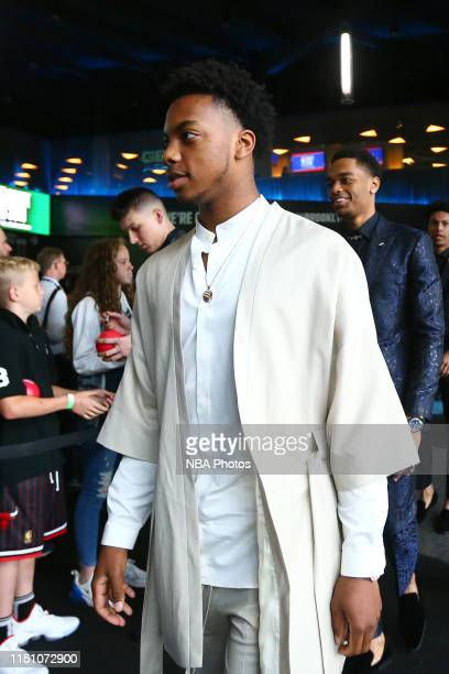 Darius Garland arrives to the arena before the 2019 NBA Draft on June 20 2019 at the Barclays Center in Brooklyn New York NOTE TO USER User expressly...