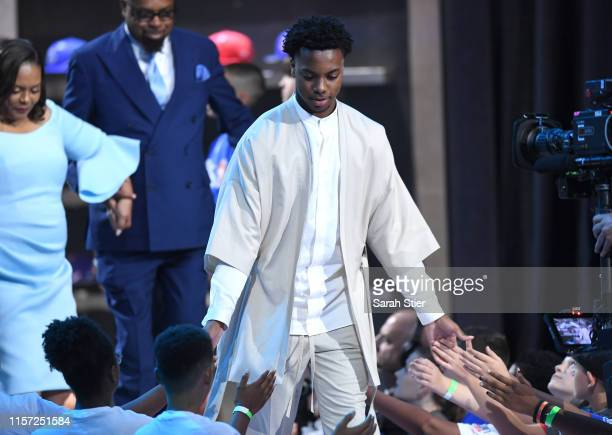 Darius Garland is introduced during the 2019 NBA Draft at the Barclays Center on June 20 2019 in the Brooklyn borough of New York City NOTE TO USER...