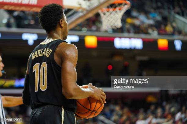 Darius Garland of the Vanderbilt Commodores inbounds the ball against the USC Trojans during a game at The Galen Center on November 11 2018 in Los...