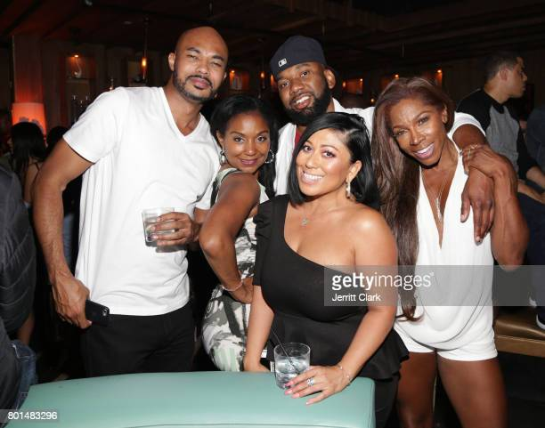 Darius Hines Joi Brown Michael McCollum CeCe Galvan and AJ Johnson attend Mark Pitts Bystorm Ent 7th Annual Post BET Awards Party hosted by DJ Khaled...