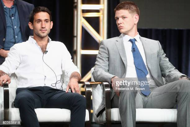 Darius Homayoun and Jon Beavers of 'The Long Road Home' speak onstage during the National Geographic Channels portion of the 2017 Summer Television...