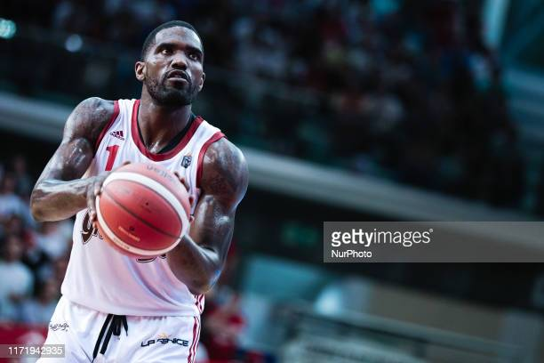 Darius Johnson-Odom of Grissin Bon Reggio Emilia during the Italy Lega Basket of Serie A match between Grissin Bon Reggio Emilia and Dolomiti Energia...
