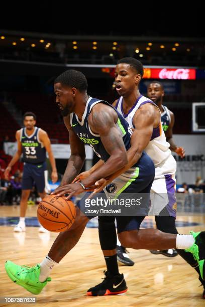 Darius JohnsonOdom of the Iowa Wolves handles the ball against the Northern Arizona Suns in an NBA GLeague game on December 1 2018 at the Wells Fargo...