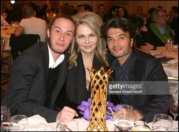 Darius Langmann Nathalie Rheims and Thomas Langmann cowinner in 2009 at The Daniel Toscan Du Plantier Award For Best Producer Ceremony 2009