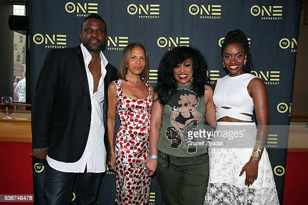 Darius McCrary Syliva Rhone Teyonah Parris and Miki Howard at Love Under New Management The Miki Howard Story at AMC Empire on June 7 2016 in New...