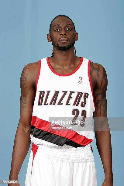 Darius Miles of the Portland Trail Blazers poses for a headshot portrait during 2005 NBA Media Day October 3 2005 at the Rose Garden in Portland...