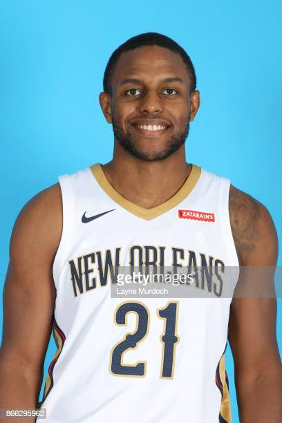 Darius Miller of the New Orleans Pelicans poses for a head shot during 2017 NBA Media Day on October 10 2017 at the Ochsner Sports Performance Center...