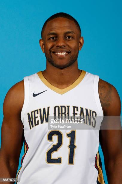 Darius Miller of the New Orleans Pelicans poses for a head shot during media day on September 25 2017 at Smoothie King Center in New Orleans...