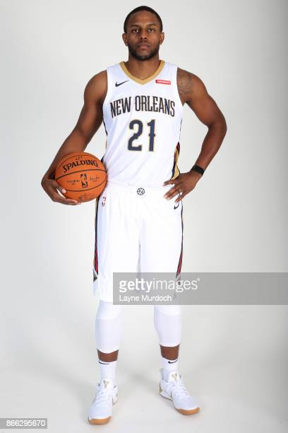 Darius Miller of the New Orleans Pelicans poses for a portrait during 2017 NBA Media Day on October 10 2017 at the Ochsner Sports Performance Center...