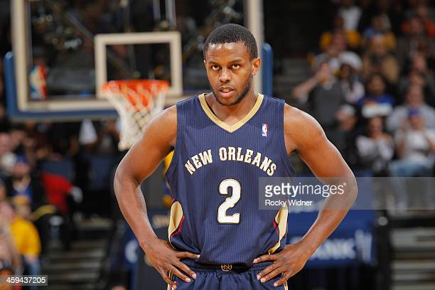 Darius Miller of the New Orleans Pelicans while facing the Golden State Warriors on December 17 2013 at Oracle Arena in Oakland California NOTE TO...