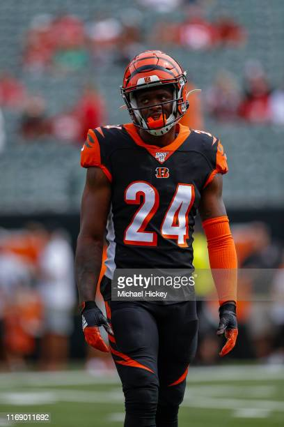 Darius Phillips of the Cincinnati Bengals is seen before the game against the San Francisco 49ers at Paul Brown Stadium on September 15, 2019 in...