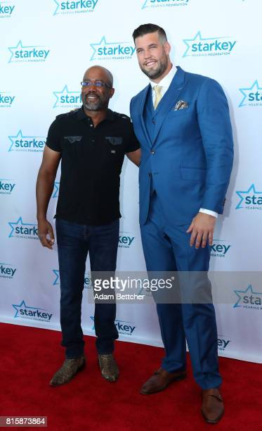 Darius Rucker and Alex Boone pose on the red carpet at the 2017 Starkey Hearing Foundation So the World May Hear Awards Gala at the Saint Paul...