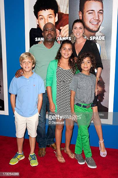 Darius Rucker and Henry Drew Dani Rucker Beth Leonard and Jack Rucker attend the Grown Ups 2 New York Premiere at AMC Lincoln Square Theater on July...