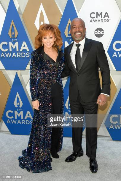 Darius Rucker and Reba McEntire attends the 54th annual CMA Awards at the Music City Center on November 11, 2020 in Nashville, Tennessee.
