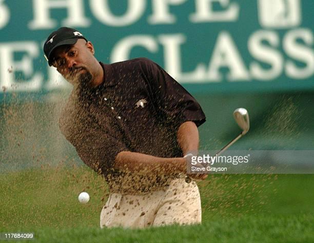 Darius Rucker during PGA Tour's 2004 Bob Hope Chrysler Classic Celebrity Pro Skills Challenge at PGA Tour West in La Quinta California United States