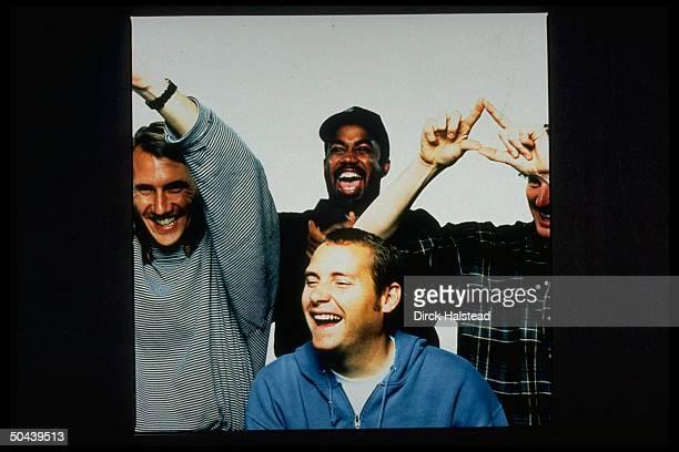 Darius Rucker Mark Bryan Dean Felber Jim Soni Sonefeld of rock group Hootie the Blowfish