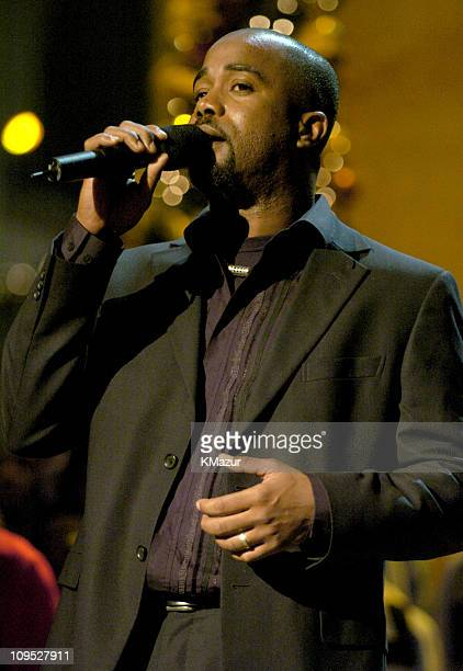 Darius Rucker of Hootie The Blowfish rehearses for TNT's Christmas in Washington Concert to air Sunday December 14 at 8pm ET/PT live from the...